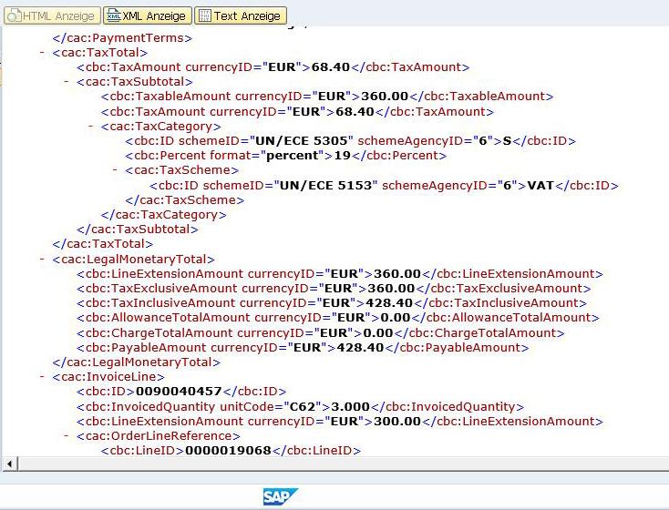 XML-Erstellung im SAP als Basis für die XRechnung